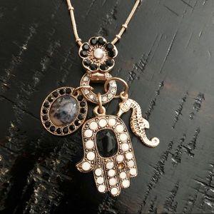 Jewelry - Amaro Israeli Hamsa Necklace - rose gold